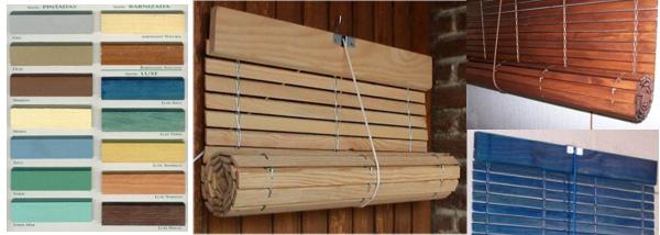 Persianas alicantinas de cadenilla cortinillas - Persianas enrollables de madera ...